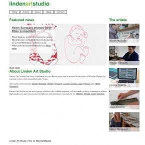 New website for Linden Art Studio