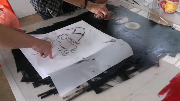 Printmaking, Visualising Birth, 2015
