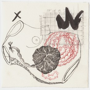 M(other) Icon, ink and pencil on paper, 20cm x 20cm, 2008